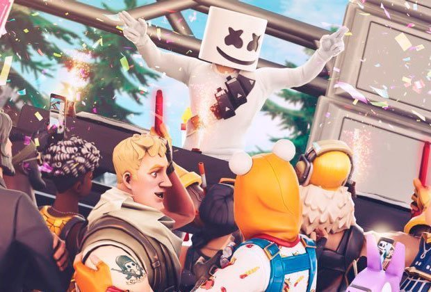 Marshmello sorprendió a millones de personas en Fortnite