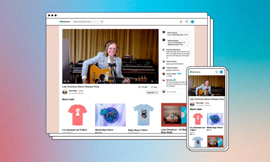 Bandcamp presentó su plataforma para transmitir eventos en vivo