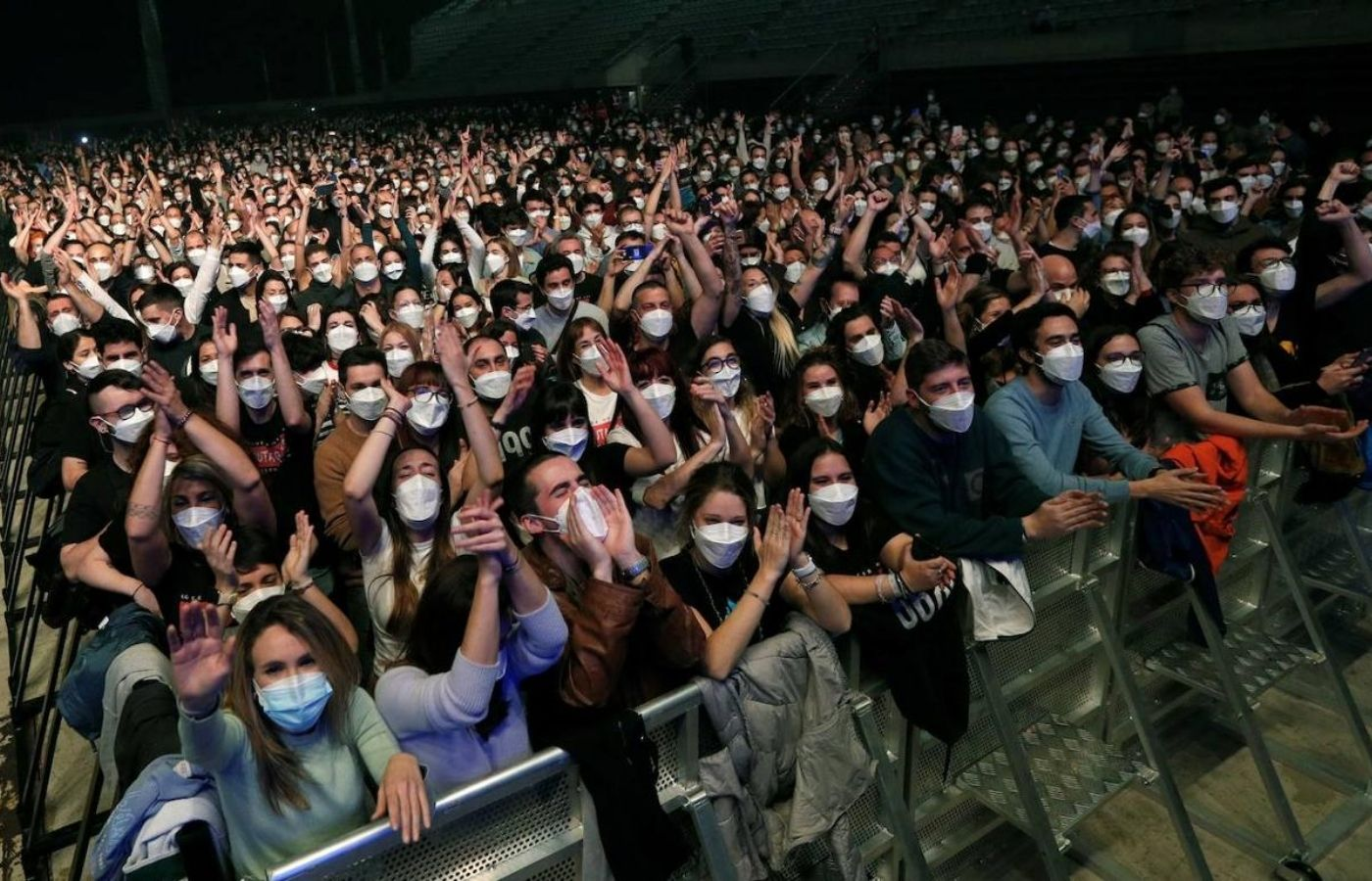 """Un concierto de prueba para 5 mil personas muestra que """"no hay signos"""" de contagios"""