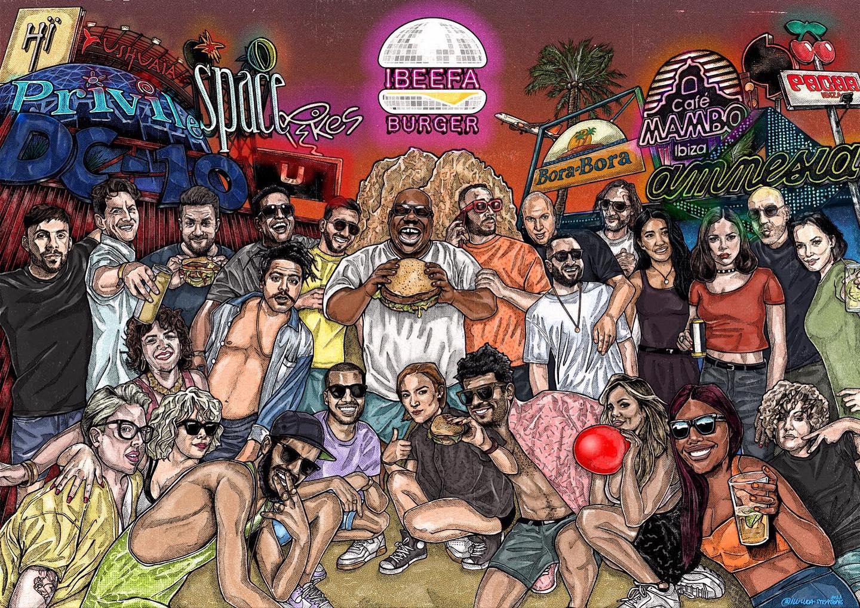 Abrieron en Ibiza un local de hamburguesas dedicado a la música electrónica