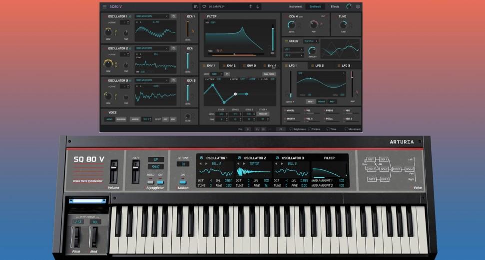 Arturia anunció la llegada del clon del sintetizador Ensoniq SQ80